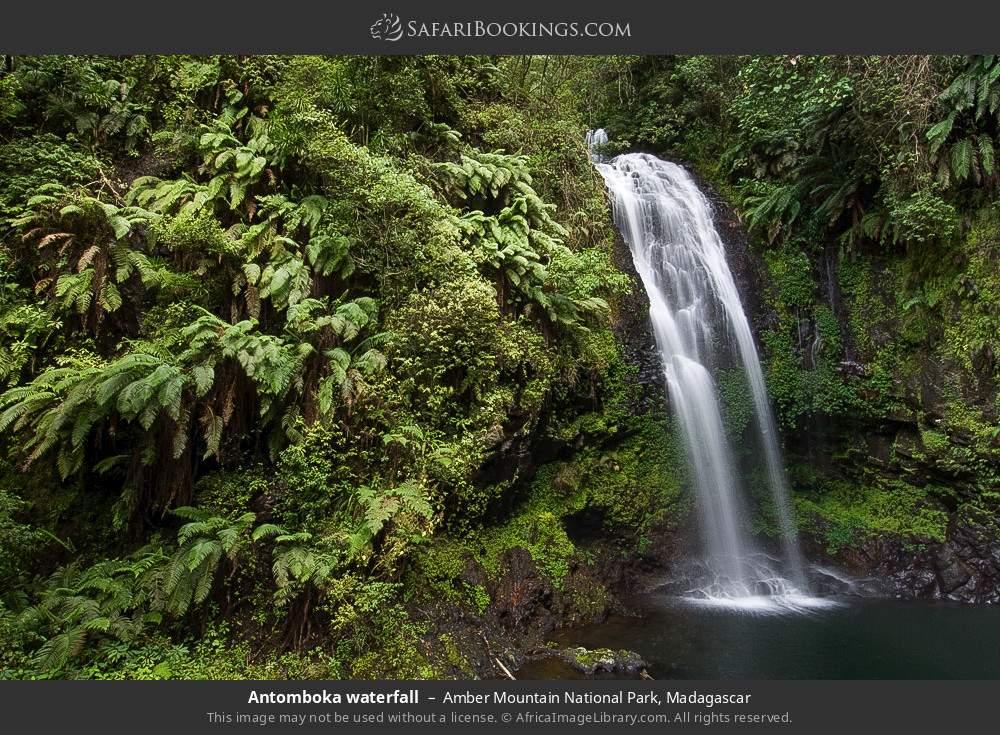Antomboka waterfall in Amber Mountain National Park, Madagascar