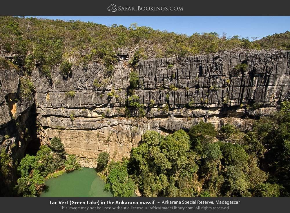 Lac vert (green lake) in the Ankarana massif in Ankarana Special Reserve, Madagascar