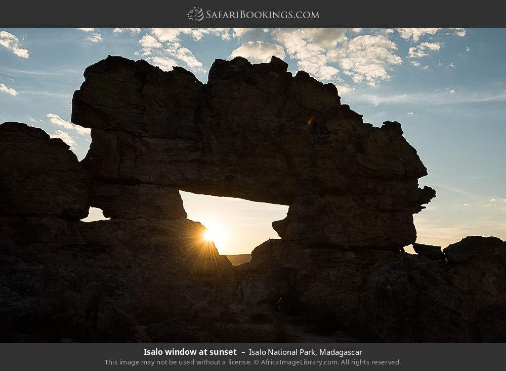 Isalo window at sunset in Isalo National Park, Madagascar