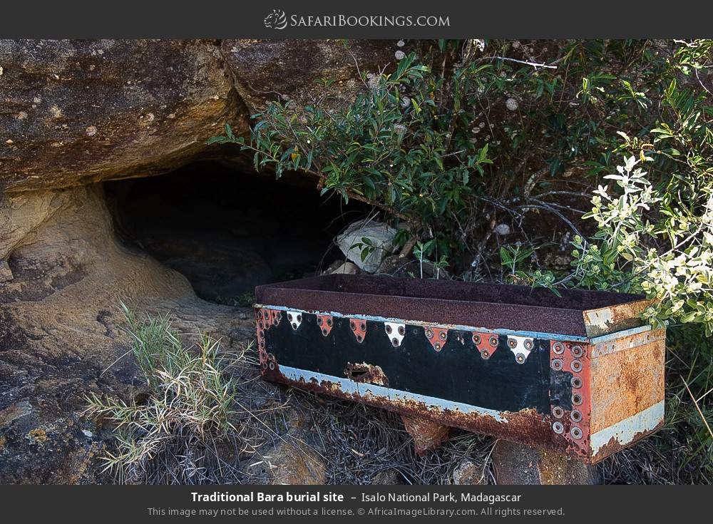 Traditional Bara burial site in Isalo National Park, Madagascar