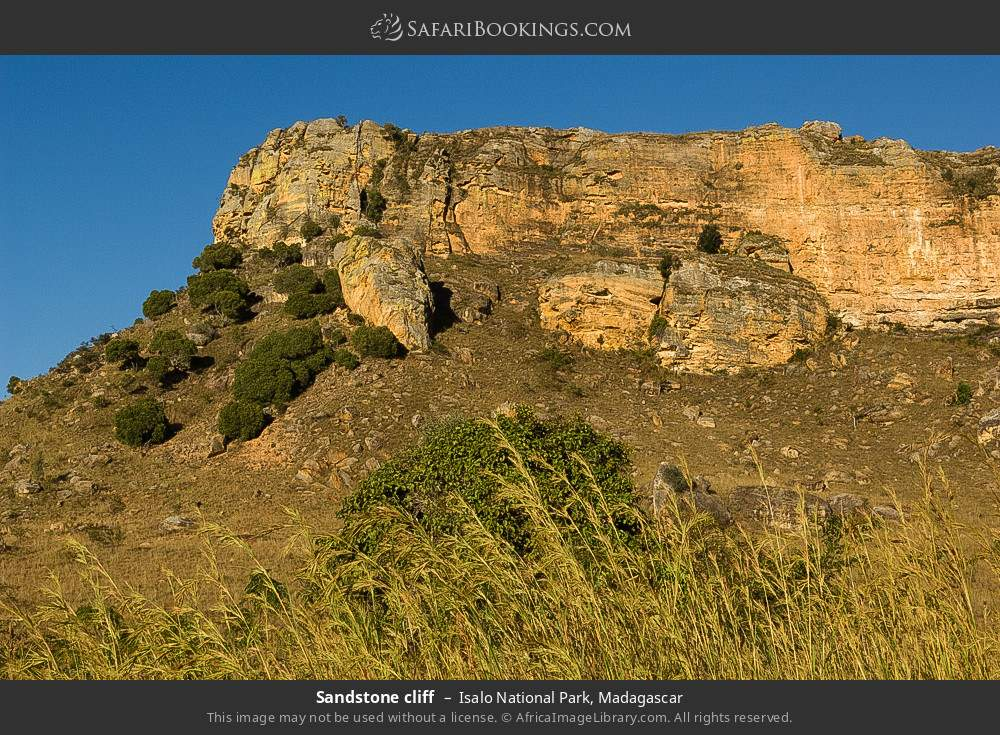 Sandstone cliff in Isalo National Park, Madagascar