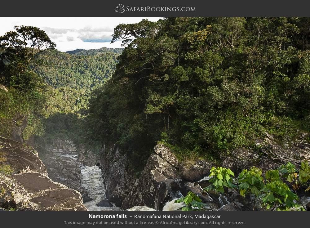 Namorona falls in Ranomafana National Park, Madagascar