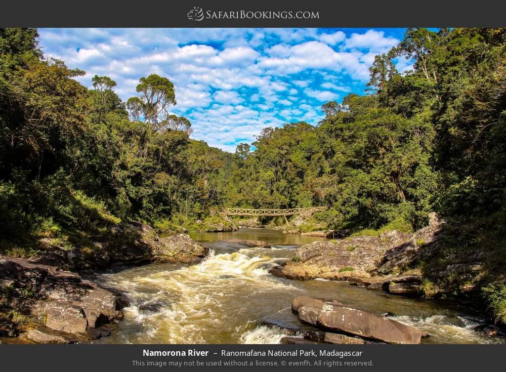 Namorona river in Ranomafana National Park, Madagascar