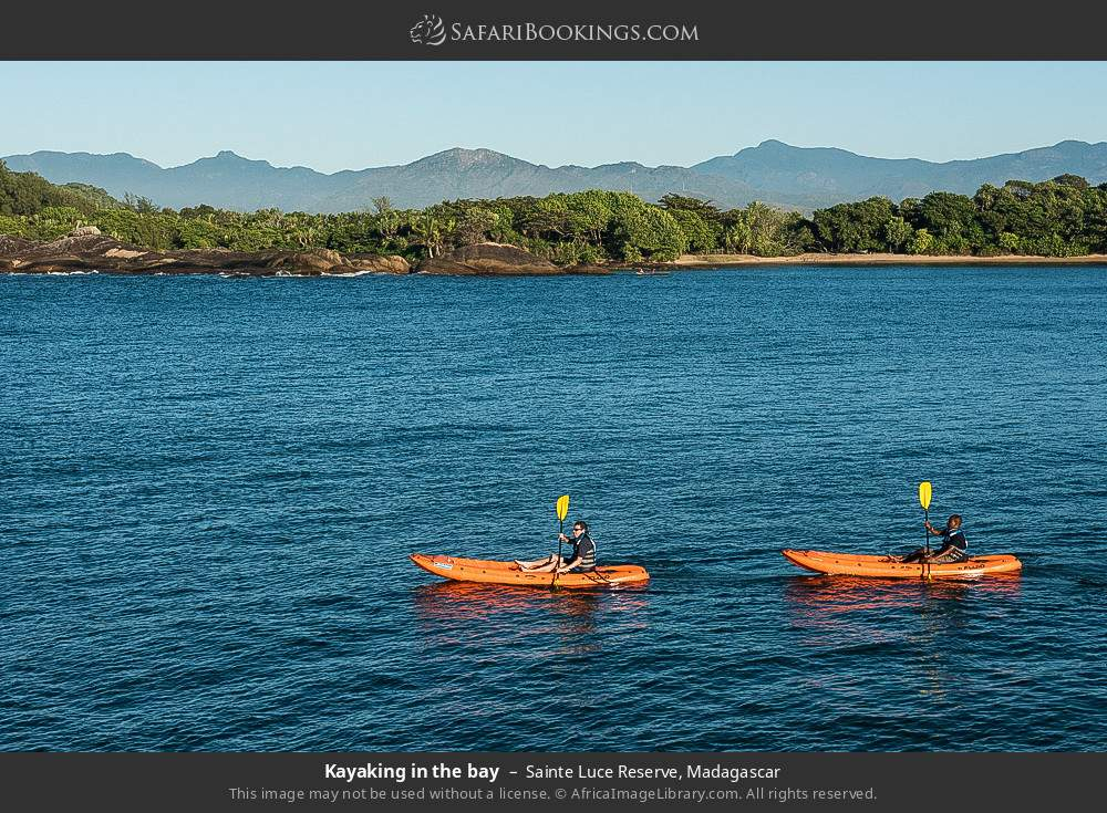 Kayaking in the bay in Sainte Luce Reserve, Madagascar