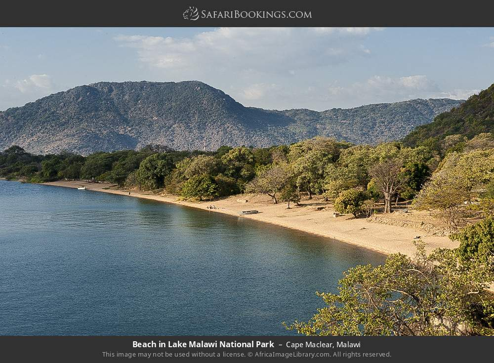 Beach in Lake Malawi National Park in Cape Maclear, Malawi