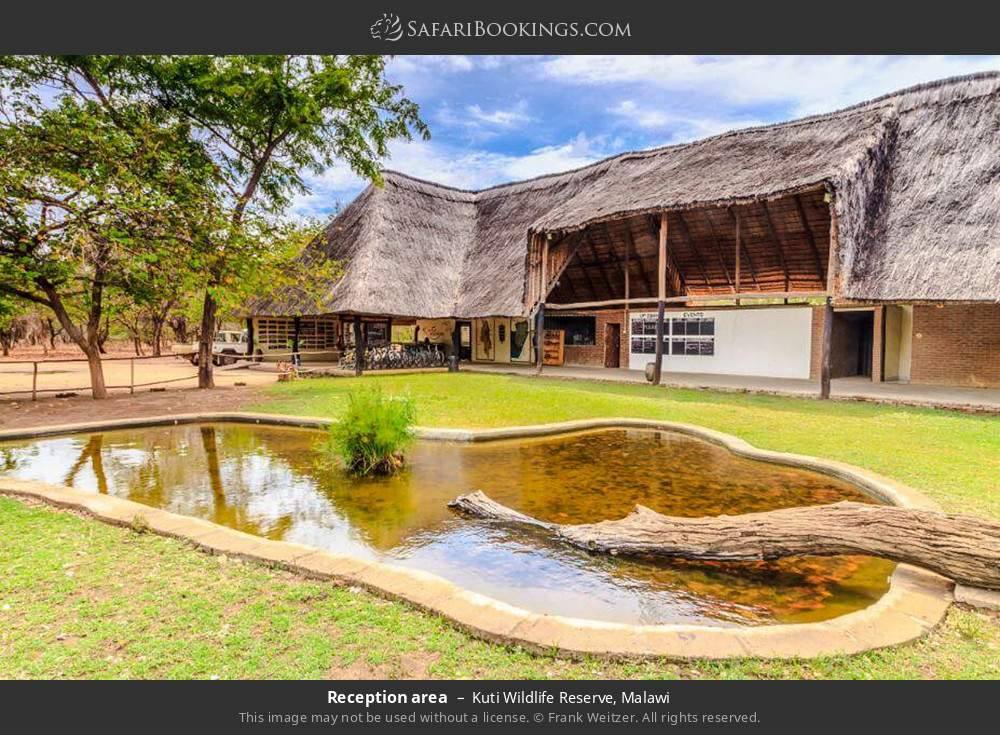 Reception area in Kuti Wildlife Reserve, Malawi