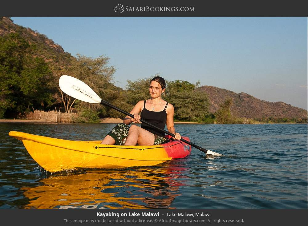 Kayaking on Lake Malawi in Lake Malawi, Malawi