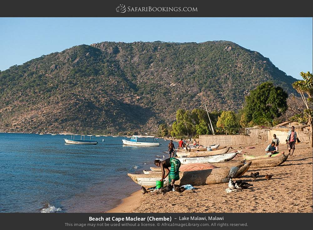 Beach at Chembe village in Lake Malawi, Malawi