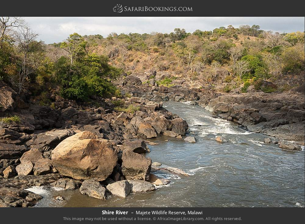 Shire River in Majete Wildlife Reserve, Malawi