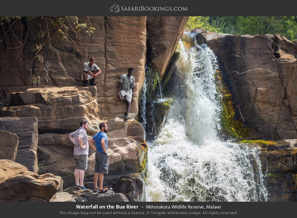 Waterfall on the Bua River in Nkhotakota Wildlife Reserve, Malawi