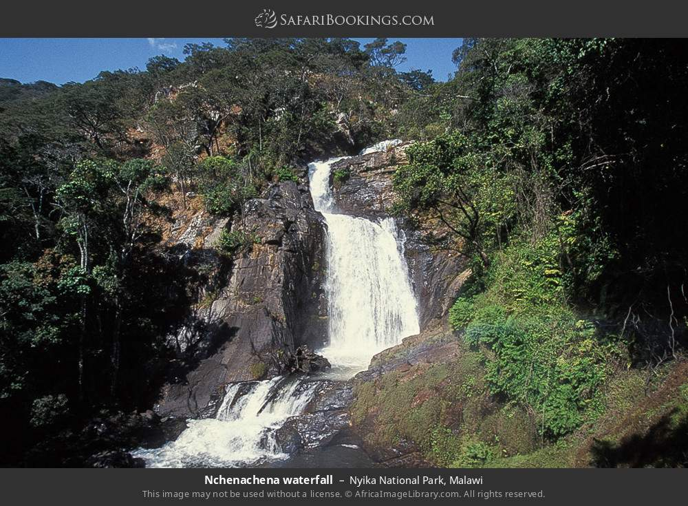 Nchenachena waterfall in Nyika National Park, Malawi