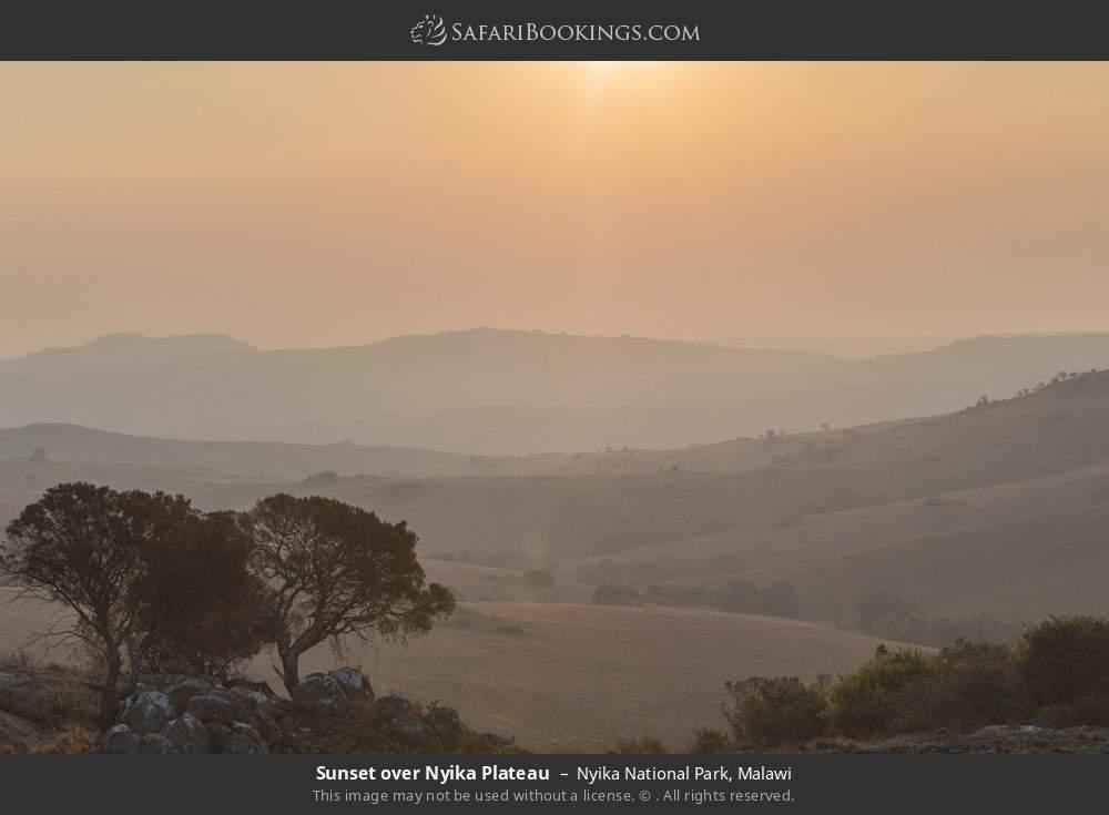 Sunset over Nyika Plateau in Nyika National Park, Malawi