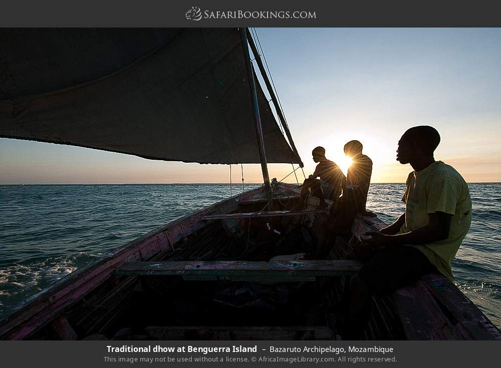 Traditional dhow at Benguerra Island in Bazaruto Archipelago, Mozambique