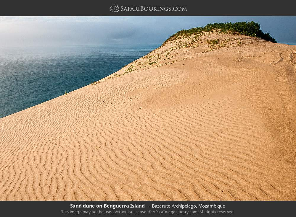 Sand dune on Benguerra Island in Bazaruto Archipelago, Mozambique