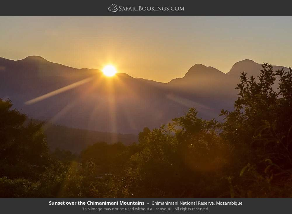 Sunset over the Chimanimani Mountains in Chimanimani National Reserve, Mozambique
