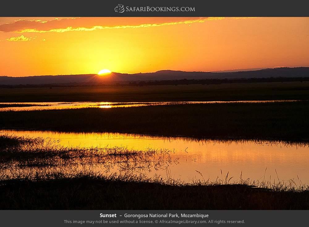 Sunset in Gorongosa National Park, Mozambique