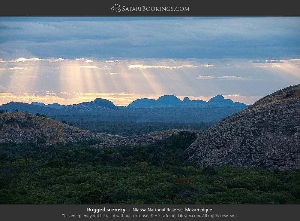 Rugged scenery in Niassa National Reserve, Mozambique