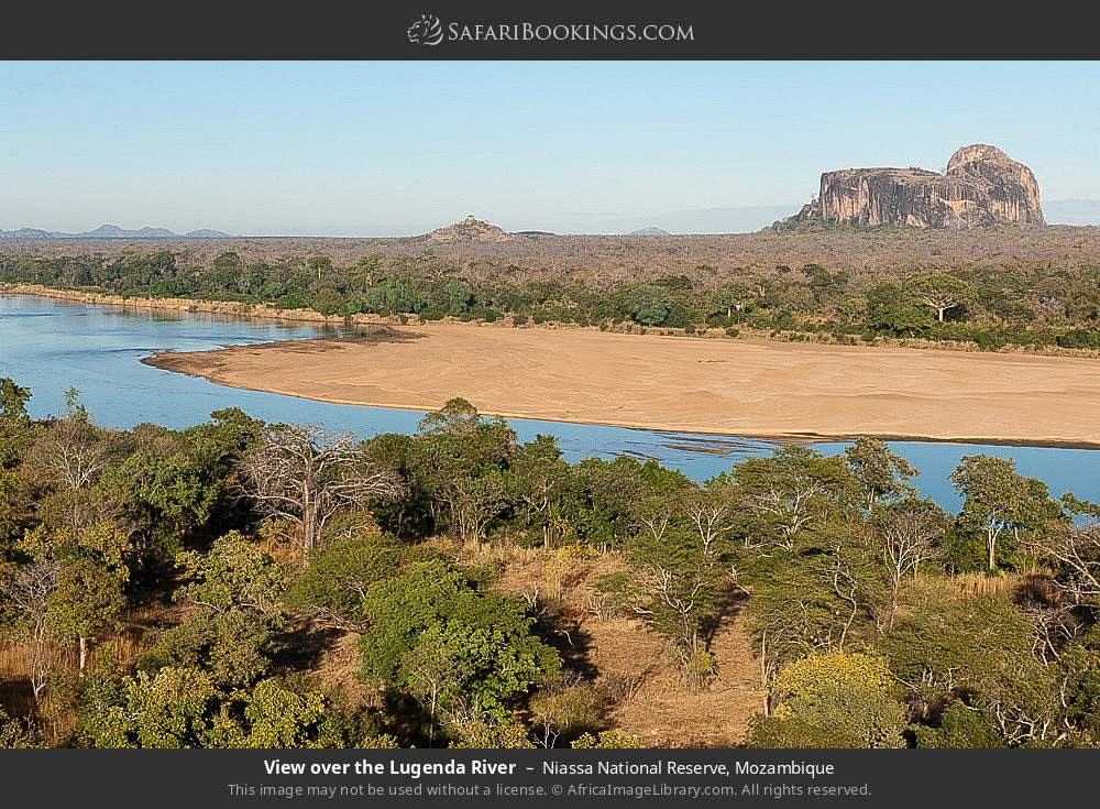 View over the Lugenda river in Niassa National Reserve, Mozambique