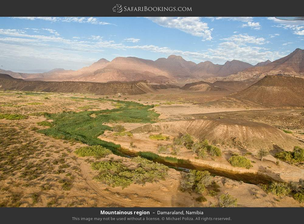Mountainous region in Damaraland, Namibia
