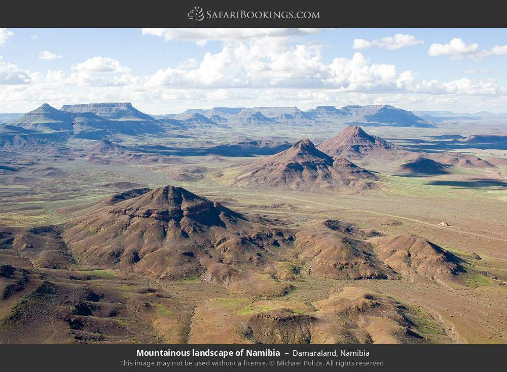 Mountainous landscape of Namibia in Damaraland, Namibia