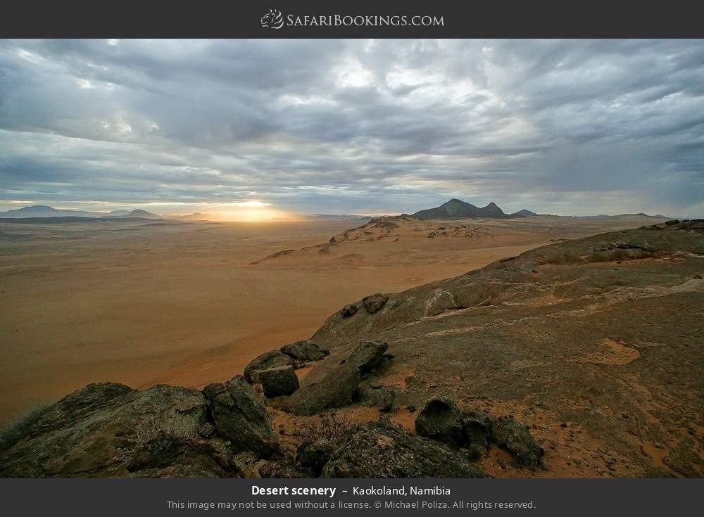 Desert scenery in Kaokoland, Namibia