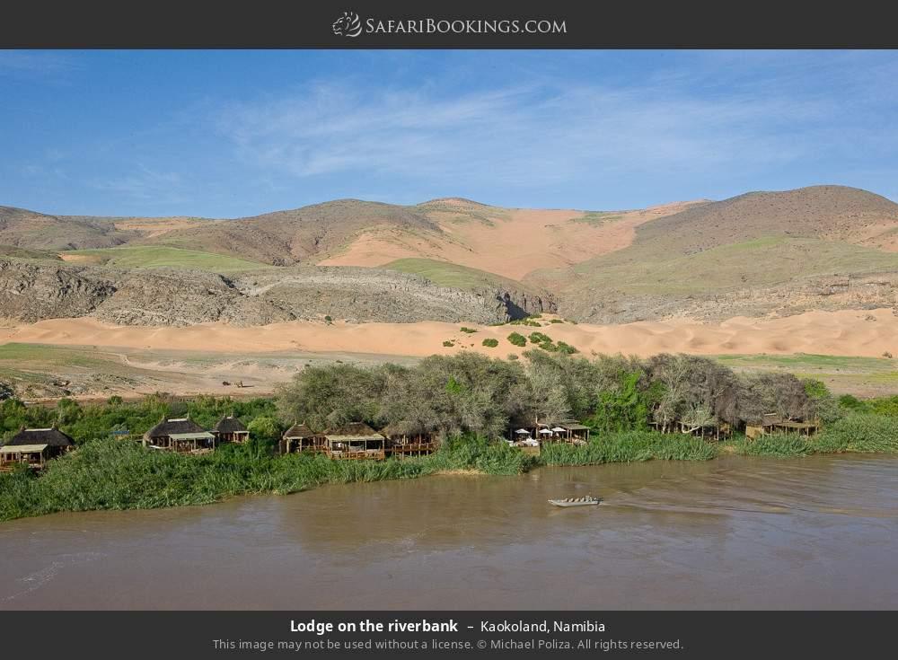 Lodge on the riverbank in Kaokoland, Namibia