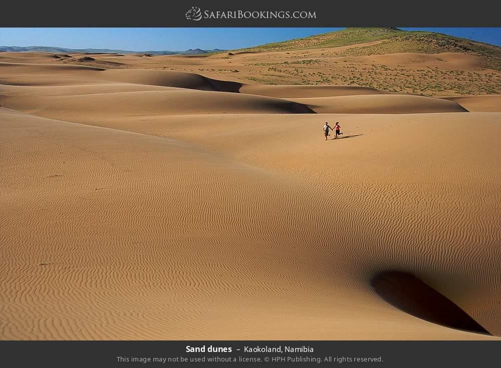 Sand dunes in Kaokoland, Namibia