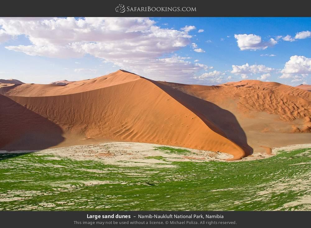 Large sand dunes in Namib-Naukluft National Park, Namibia