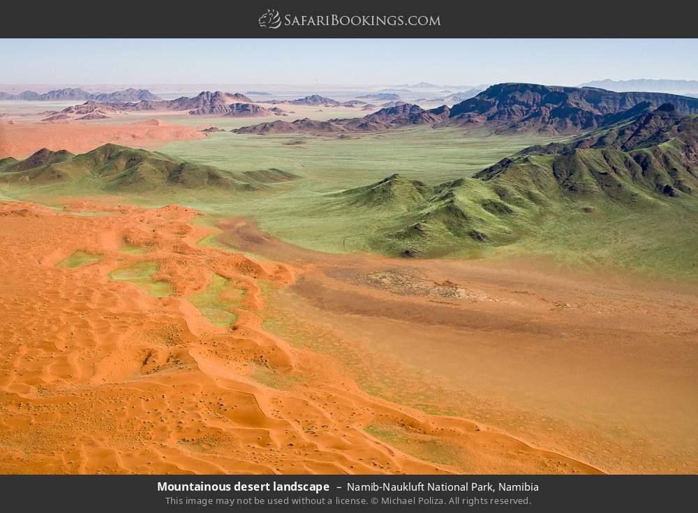 Mountainous desert landscape in Namib-Naukluft National Park, Namibia