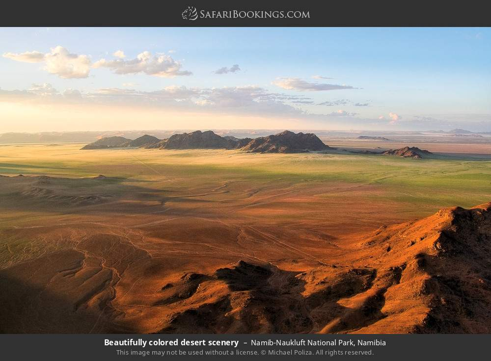 Beautifully colored desert scenery in Namib-Naukluft National Park, Namibia