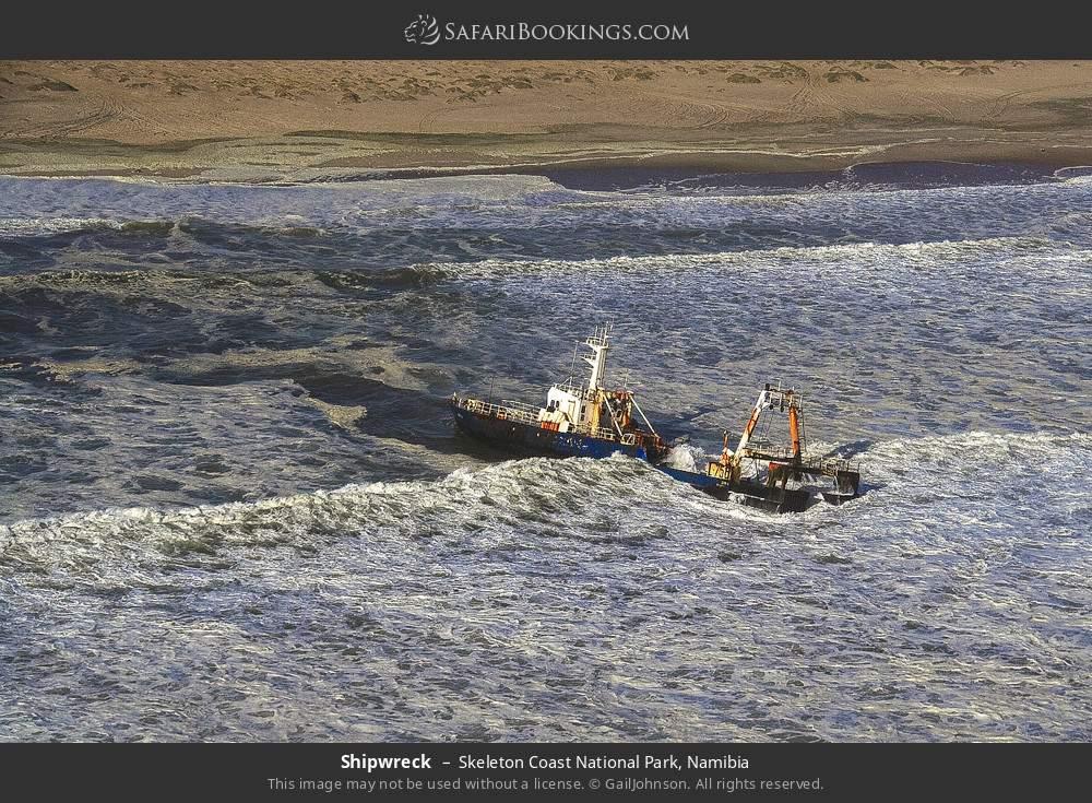 Shipwreck in Skeleton Coast National Park, Namibia