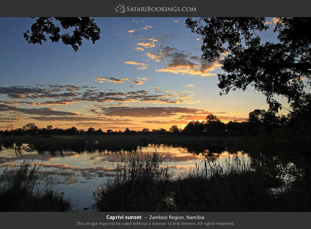 Caprivi sunset in Zambezi Region, Namibia