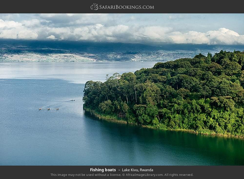 Fishing boats in Lake Kivu, Rwanda