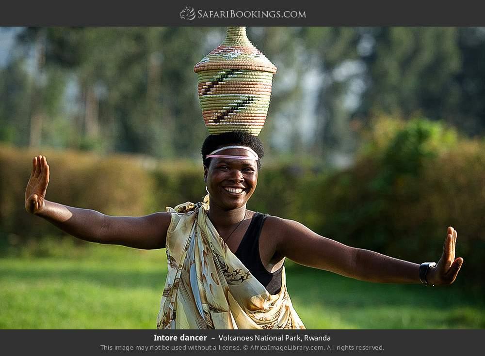 Intore dancer in Volcanoes National Park, Rwanda