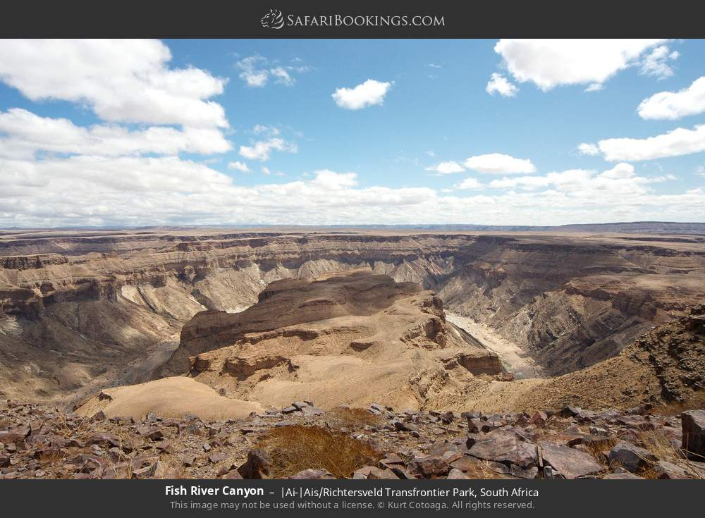 Fish River Canyon in |Ai-|Ais Richtersveld Transfrontier Park, South Africa