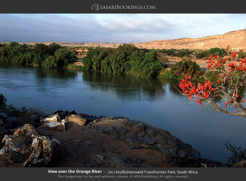 View over the Orange River in |Ai-|Ais Richtersveld Transfrontier Park, South Africa