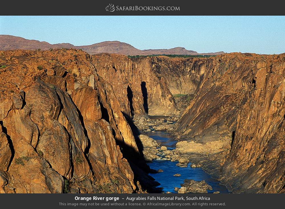 Orange River gorge in Augrabies Falls National Park, South Africa