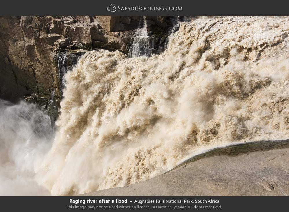 Raging river after a flood in Augrabies Falls National Park, South Africa