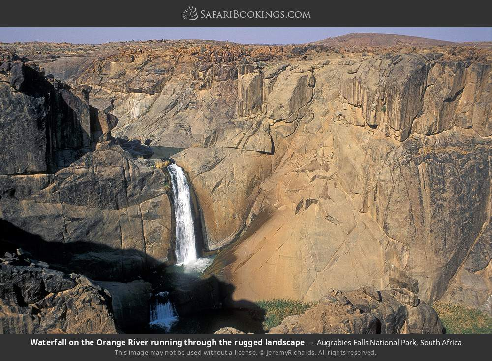 Waterfall on the Orange River running through the rugged landscape in Augrabies Falls National Park, South Africa