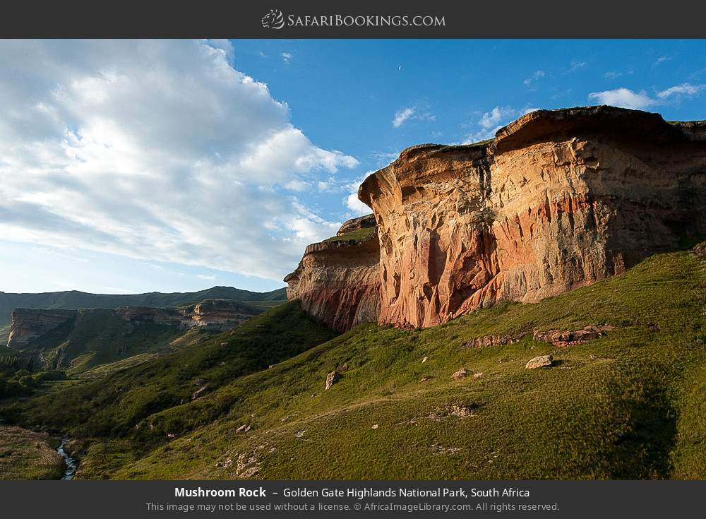 Mushroom rock in Golden Gate Highlands National Park, South Africa