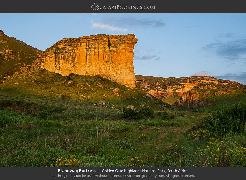 Brandwag Buttress in Golden Gate Highlands National Park, South Africa