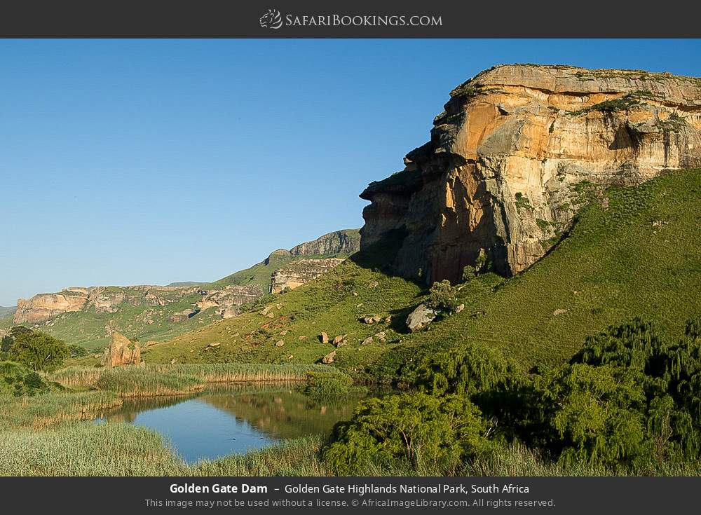 Golden Gate Dam in Golden Gate Highlands National Park, South Africa