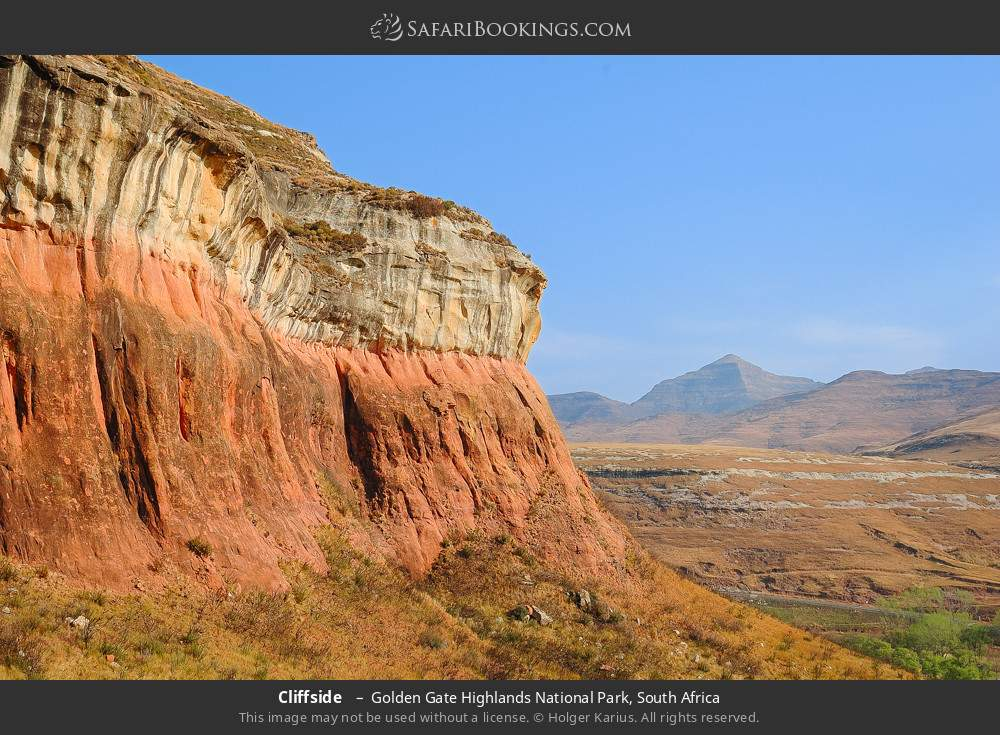 Cliffside  in Golden Gate Highlands National Park, South Africa
