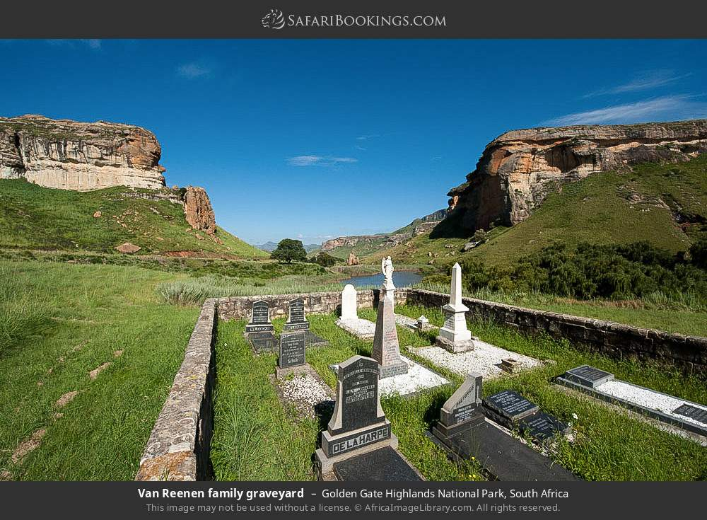 Van Reenen Family Graveyard in Golden Gate Highlands National Park, South Africa