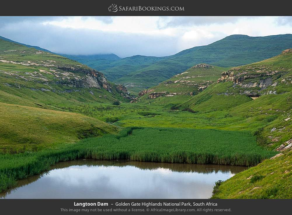 Langtoon dam in Golden Gate Highlands National Park, South Africa