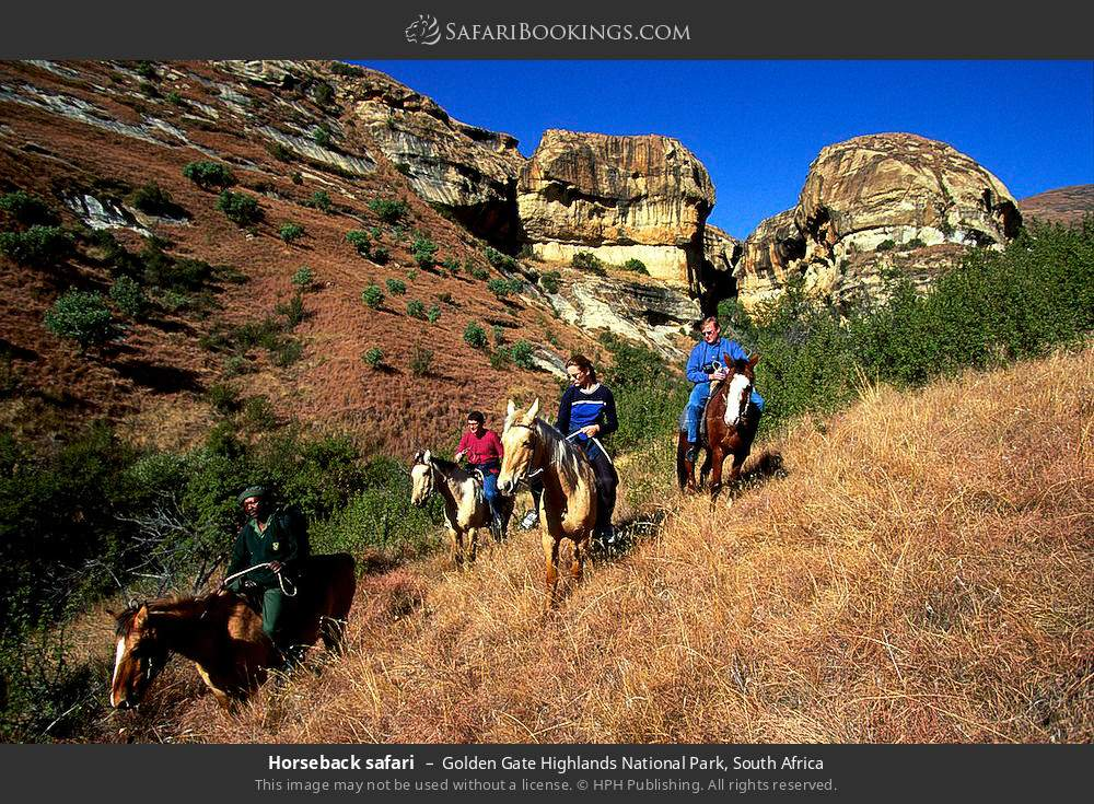 Horseback safari in Golden Gate Highlands National Park, South Africa