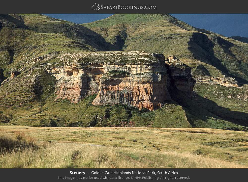 Scenery in Golden Gate Highlands National Park, South Africa