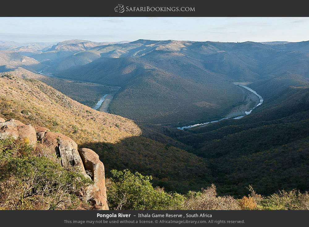 Pongola River in Ithala Game Reserve , South Africa