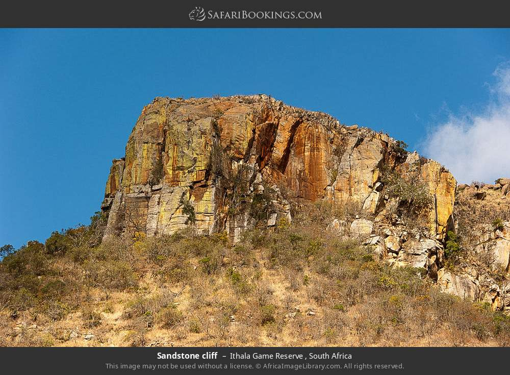 Sandstone cliff in Ithala Game Reserve , South Africa
