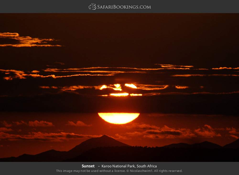 Sunset  in Karoo National Park, South Africa